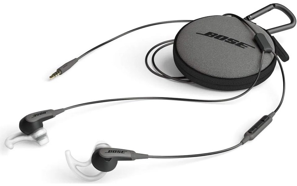 Carcasa si casti Bose SoundSport Wired.